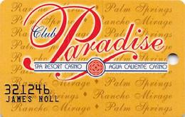 Spa Resort/Agua Caliente Casino Club Paradise Slot Club - Casino Cards