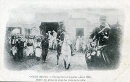 MILITAIRE(ZOUAVE) OUDJDA(PUBLICITE CREME FRANCO RUSSE) - Regiments