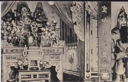 THEME---BOUDDHISME---la Pagode Annamite---intérieur Du Temple Boudhique---voir 2 Scans - Budismo