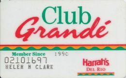 Harrah´s Casino Laughlin, NV - Club Grande Slot Card - Casino Cards