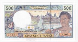 Polynésie Française / Tahiti - 500 FCFP - V.006 / Pouilleute-Ferman-Audren - (1998-2000) - Papeete (Polynésie Française 1914-1985)