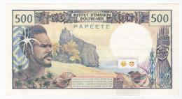 "Polynésie Française - 500 FCFP - Mention ""PAPEETE"" Au Verso - N.1 / Panouillot - Théron - Papeete (French Polynesia 1914-1985)"