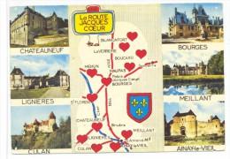 CPM Route Jacques Coeur Chateauneul Lignieres Culan Meillant Ainay Le Vieil Bourges - Centre-Val De Loire