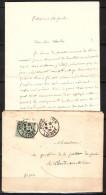 Lettre De PITHIVIERS  Loiret   Le 18 1 1905  Avec Son  Courrier Pour LE THEIL Sur HUINE  Orne - 1903-60 Semeuse Lignée