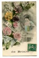 CPA  45  :  BRIARE    Carte Fantaisie  Un Bonjour De       A  VOIR  !!!!!!! - Briare