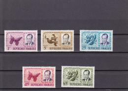 UNION ET RéCONCILIATION NATIONALES PDT GRUNITZKY NEUF ** UNE SéRIE DE 5 VALEURS N° 419/423 YVERT ET TELLIER 1964 - Togo (1960-...)