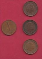 NEDERLAND, 1966, 4 Coins Of 1 Cent, Queen Juliana, Bronze, C2764 - [ 3] 1815-… : Kingdom Of The Netherlands