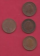 NEDERLAND, 1976, 4 Coins Of 1 Cent, Queen Juliana, Bronze, C2774 - [ 3] 1815-… : Kingdom Of The Netherlands