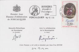 Carte  1789   Député  BOUCHE    FORCALQUIER   1989 - Révolution Française