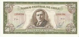 Billet - CHILI - 50 Escudos - NEUF, UNC. - Série F14 - Alessandri - Chile - Chile