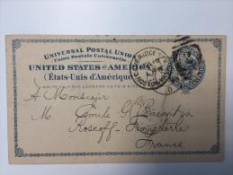 Postal Stationery Card 1936 To France - Enteros Postales