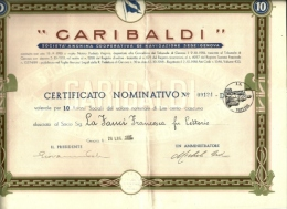 Documento Azionario - Garibaldi Navigazione - Navigation