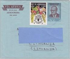 Z] Honduras Aérogramme Aerograma Aerogram FAO Alimentation Food President Dr Ramon Villeda Morales - Honduras