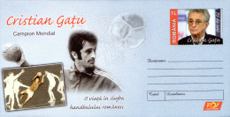 Romania Postal Stationery / 70 Years Cristian Gatu - Hand-Ball