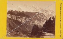 Photo CDV Suisse De Lauterbrunnen Joungfrau Par Gabler Interlaken - Photos