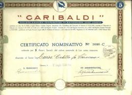 Documento Azionario - Garibaldi Navigazione, - Navigazione