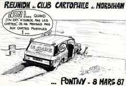 56 PONTIVY  1987 LE CLAIRE Dessin Depaepe  Réunion CCVPM - Pontivy