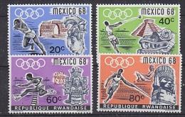 Rwanda 1968 Olympic Games Merxico 4v ** Mnh (25942) - Zomer 1968: Mexico-City
