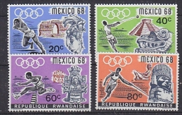 Rwanda 1968 Olympic Games Merxico 4v ** Mnh (25942) - Sommer 1968: Mexico