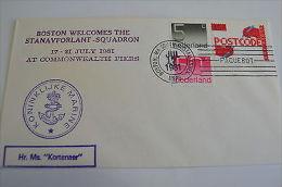 Netherland Kortenaer Ship Boston 17/7/1981 Stanavforlant Squadron NATO - Unclassified