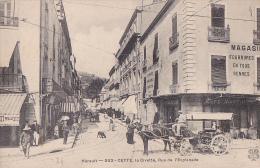 34 -- Hérault -- Sète - Cette -- La Civette - Rue De L'Esplanade - Attelage/cheval - Café Martin - Sete (Cette)