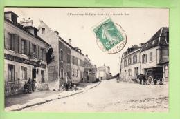 FONTENAY SAINT PERE - Grande RUE - Petite Animation Devant Café Restaurant LEFEVRE - 2 Scans - Frankreich