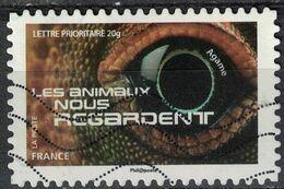 France 2015 Oblitéré Used Les Animaux Nous Regardent Agame Y&T 1157 - France