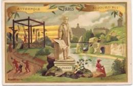 Cromo  MONTFAUCON EN 1400 AUTREFOIS PARIS AUJOURD HUI - Confiserie & Biscuits