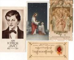 510Bf   Lot De 4 Images Pieuses St Dominique Savio Jesus - Religion & Esotérisme