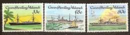 Cocos Keeling Islands 1985 Yvertn° 128-130 ***  MNH Cote 9 Euro Bateaux Ships Schepen - Cocos (Keeling) Islands