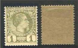 "Monaco YT 1 "" Prince Charles III 1c. Olive "" 1885 Neuf * - Neufs"