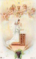 510Bf   Image Pieuse Souvenir Communion Solennelle église De Laragne (05) Andrée Guirand En 1954 - Religion & Esotérisme