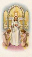 510Bf   Image Pieuse Souvenir Communion Solennelle église De Laragne (05) Annie Garcin En 1954 - Religion & Esotérisme