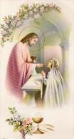 510Bf   Image Pieuse Souvenir Communion Solennelle église De Laragne (05) Eveline Gillio En 1955 - Religion & Esotérisme