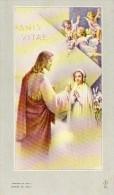 510Bf  Lot 2 Images Pieuses Souvenir Communion Solennelle église De Laragne (05) Daniele Trinquier En 1955 - Religion & Esotérisme
