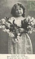 ENFANTS - LITTLE GIRL - MAEDCHEN - Jolie Carte Fantaisie Fillette Et Fleurs - Portretten