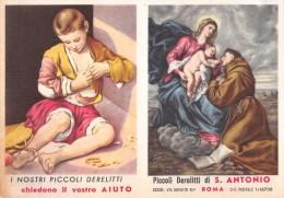 """02767 """"CALENDARIETTO - PICCOLI DERELITTI DI S. ANTONIO - ROMA - 1960"""" - Calendari"""