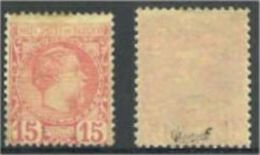 "Monaco YT 5 "" Prince Charles III 15c. Rose "" 1885 Neuf * Signé - Monaco"