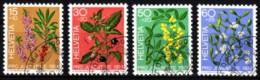 Schweiz 1974 MiNr. 1042/ 1045   O/ Used  PRO JUVENTUTE: Giftpflanzen - Toxic Plants
