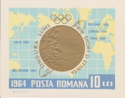ROMANIE    OLYMPIC TOKYO 1964  YVERT N°BF60.**  MNH  Réf  0833A - Summer 1964: Tokyo