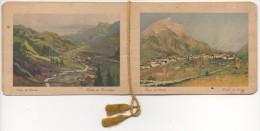 """02776 """"CALENDARIETTO - LAGO DI GARDA - PAESE DI GAINO - TORRI - TRAMONTO - 1930"""" FIRMATO CAMPESTRINI - Formato Piccolo : 1921-40"""