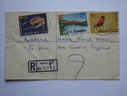 GHANA 1960 REGISTERED COVER ACCRA TO HOVE ENGLAND - Ghana (1957-...)