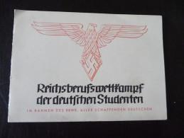Hannover Reichsberufswettkampf Der Deutschen Studenten 1938 - Historical Documents