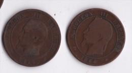 10 CENTIMES 1854 K NAPOLEON III +1864 A       LOT 18 - D. 10 Centesimi