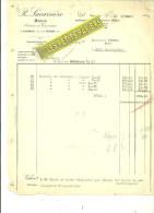 60 - Oise - HERMES - Facture LACARIERRE - Bois - Scierie Et Tournerie – 1925 - REF 217 - France