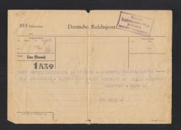 Dt. Reich Österreich Linz Telegramm 1943 Wegen Leitungsstörung Postlich Weiter Befördert - Cartas