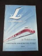 Werbung Bonn Vereinigte Leichtmetall Mit Eisenbahn Autos  Usw. - Bonn