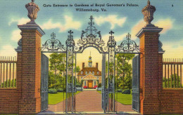 Gate Entrance To Gardens Of Royal Governor's Palace. Williamsburg Va. - United States