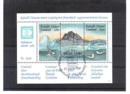 SOS1507 GRÖNLAND 1987  Michl  BLOCK 1 Used / Gestempelt - Greenland