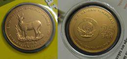 Malaysia 2003 25 Cent Nordic Gold Coin BU 25 Cent Animal 2003 Sambar Deer - Malaysia